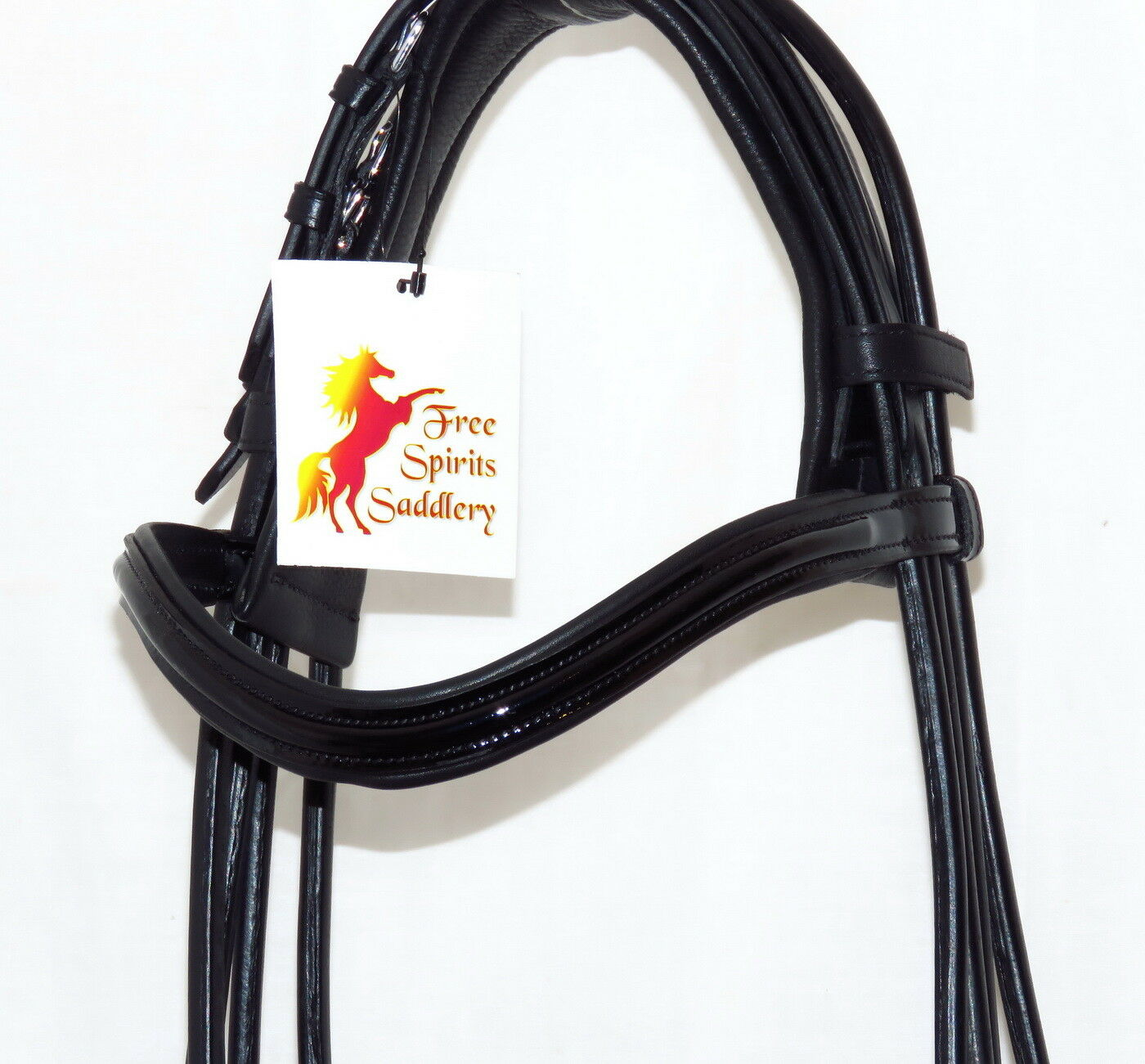 FSS ROLLED Jet Jet Jet PATENT Curve Comfort Padded CUT AWAY Crank Cavesson DOUBLE Bridle 279581
