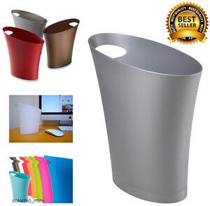 Basket Trash Can Vanity Garbage Slim Waste Bathroom Toilet