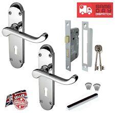 Epsom Door Handle Bathroom Replacement Kit Set 170 mm X 40 mm Polished Chrome