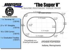 LIONEL FASTRACK THE SUPER V TRACK PACK LAYOUT train 5' X 9' O GAUGE trestle NEW