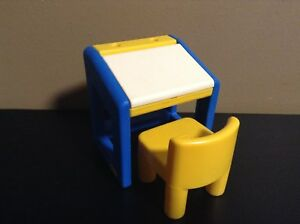 Little Tikes Desk With Chair Dollhouse Furniture Doll House Size Ebay