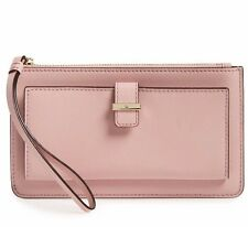 NWT Kate Spade Cedar Street Karolina Leather Wallet Clutch Pink Bonnet New $100