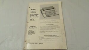 Vintage-Sears-Electronic-Portable-Typewriter-Model-No-161-53509850-Manual