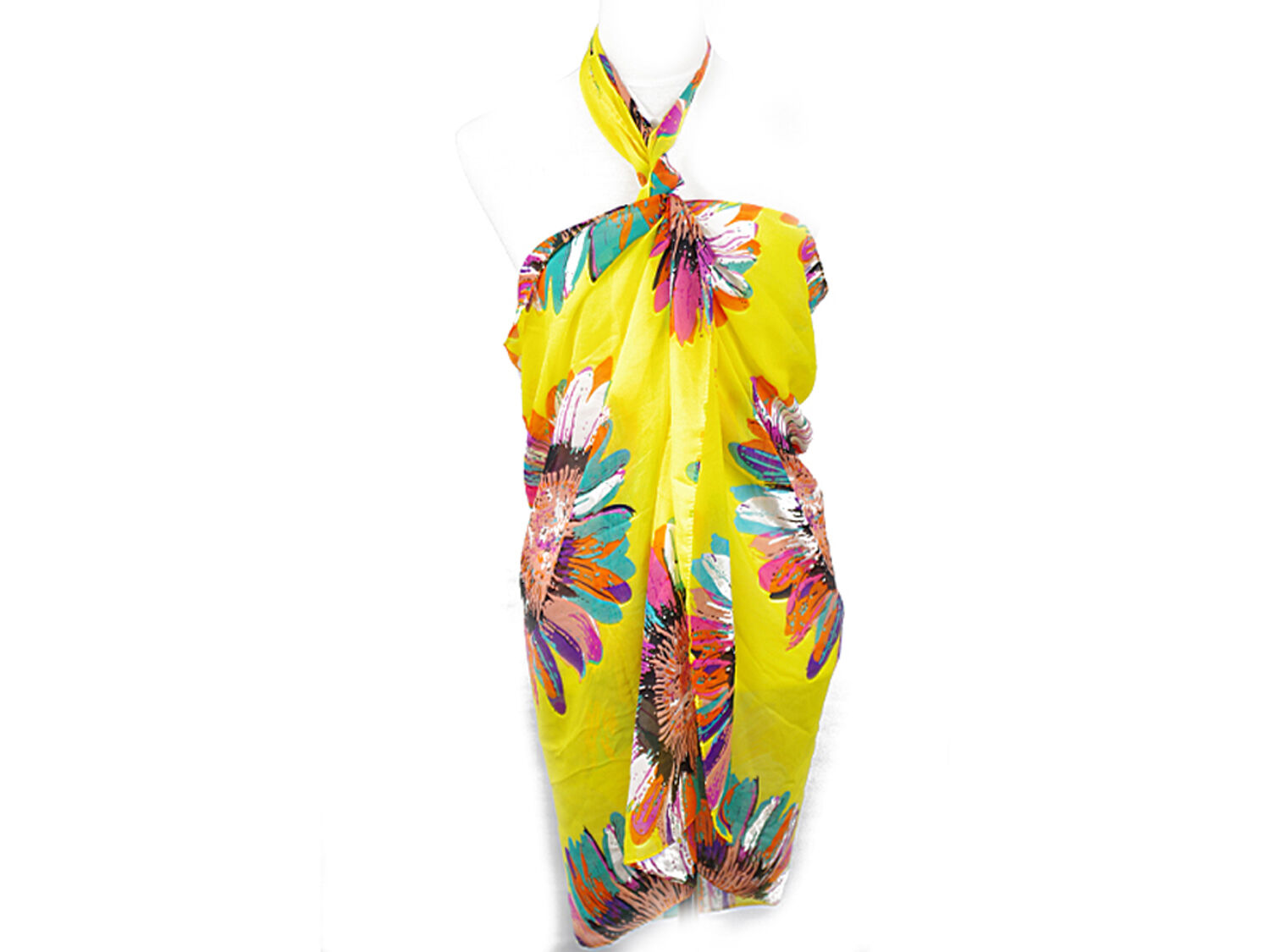 197a7f0bd4 Pack of 4stylish Sunflower Design Sarong -scarf Pareo Beachwear ...