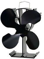 4blade Heat Powered Stove Fan For Wood / Log Burner/fireplace Eco