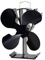 4blade Heat Powered Stove Fan For Wood / Log Burner/fireplace Eco on sale