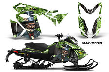 AMR Racing Sled Wrap Ski Doo Rev XS Snowmobile Graphics Kit 13-14 MAD HATTER BLK