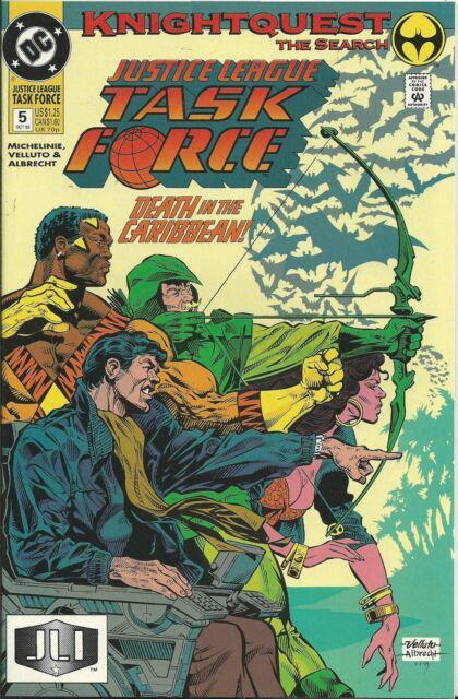 """JUSTICE LEAGUE TASK FORCE #5 (DC) BATMAN """"KNIGHTQUEST"""" (NM-)"""