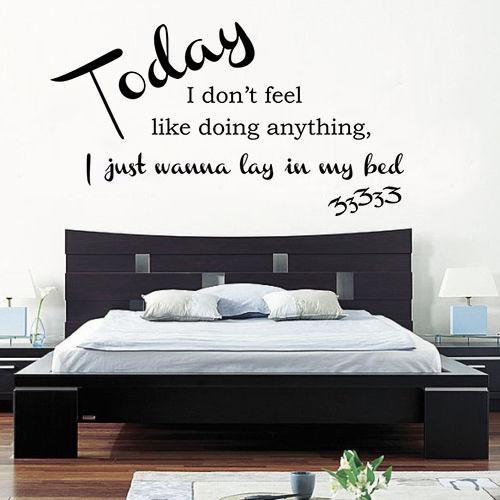 Bruno Mars - Lazy Song Lyrics Wall Art Quote Vinyl Transfer Decal ...