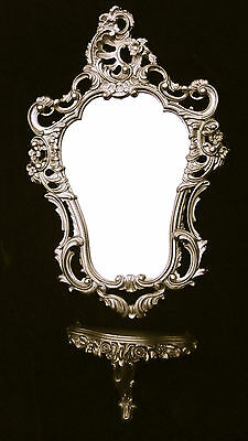 Miroir Mural Baroque Blanc-Or Antique Art Nouveau 60x35 flurspiegel elfenbeinweiß