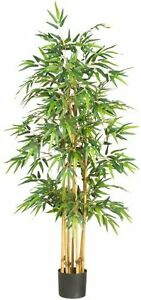 Nearly Natural 5253 Bamboo Silk Tree- 64-Inch- Green NEW