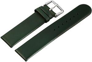 Echtleder-Ersatzarmband-Uhrenband-Gruen-20-mm-Ersatzband-X-815160002020
