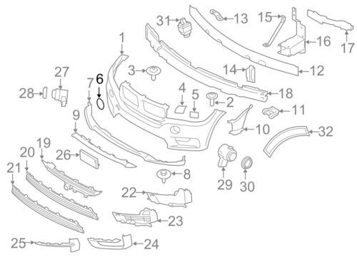 BMW NEW GENUINE X6 SERIES F16 FRONT BUMPER TOW HOOK EYE COVER 7422901