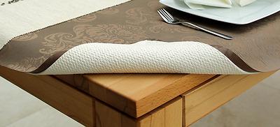 Tischpolster Tischdeckenunterlage Tischschoner Weiss Größe wählbar Meterware