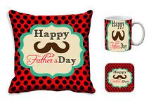 Father's Day Gift-meSleep Fathers Day Cushion Cover, Mug and Coaster Combo