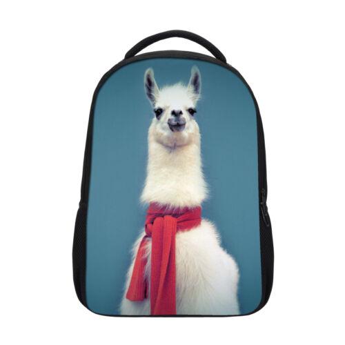 Cute Kid/'s School Bag Large Girl/'s Book Bag Women/'s Backpack Lovely Animal Llama