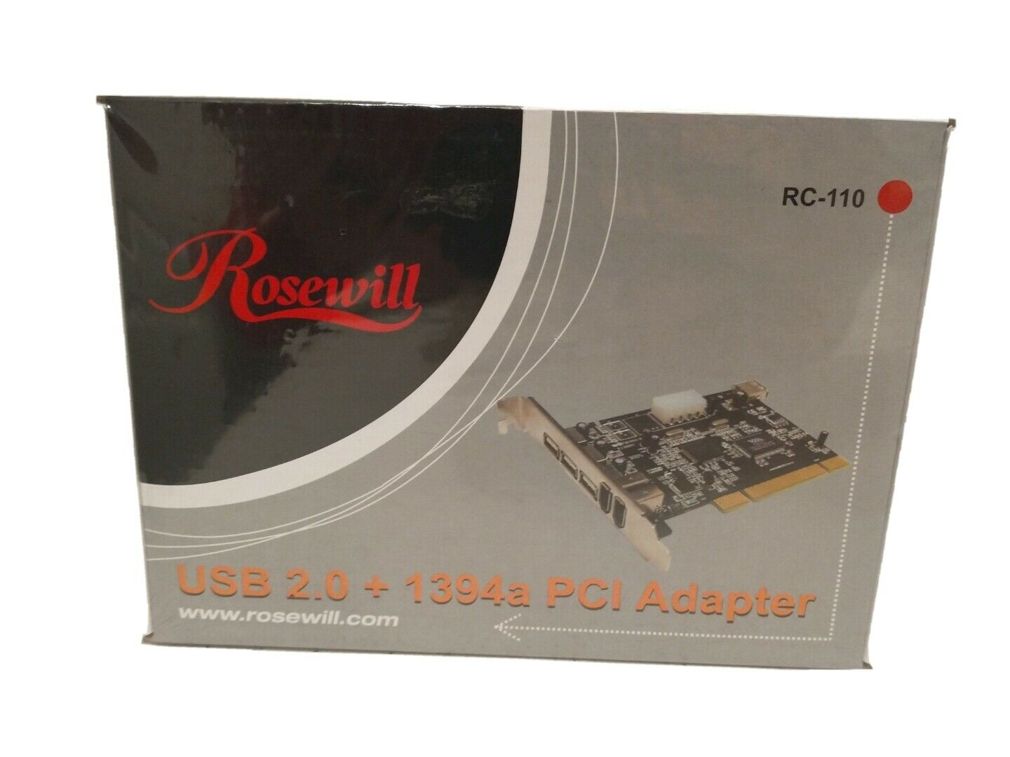 Rosewill RC-110 USB 2.0 1394a PCI Adapter - Brand New & Sealed