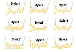 PERSONALIZED-14K-GOLD-PLATED-NAME-PLATE-NECKLACE-Any-name-Any-Style-Ship-from-US