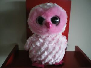 2b3bad9a346 Ty Beanie Boos TWIGGY the owl - MEDIUM 9 INCH NWMT - approx ...