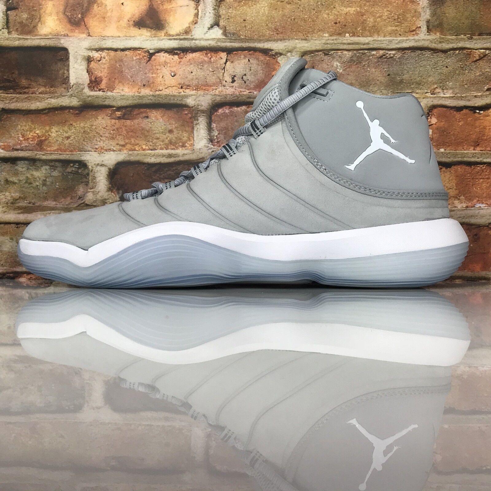Air Jordan Super Fly 2017 Uomo Size 11 11 11 Basketball Shoes Wolf Grey Platinum 229b2e