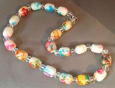 collier perle opaline et perle de verre couleur pastel C3