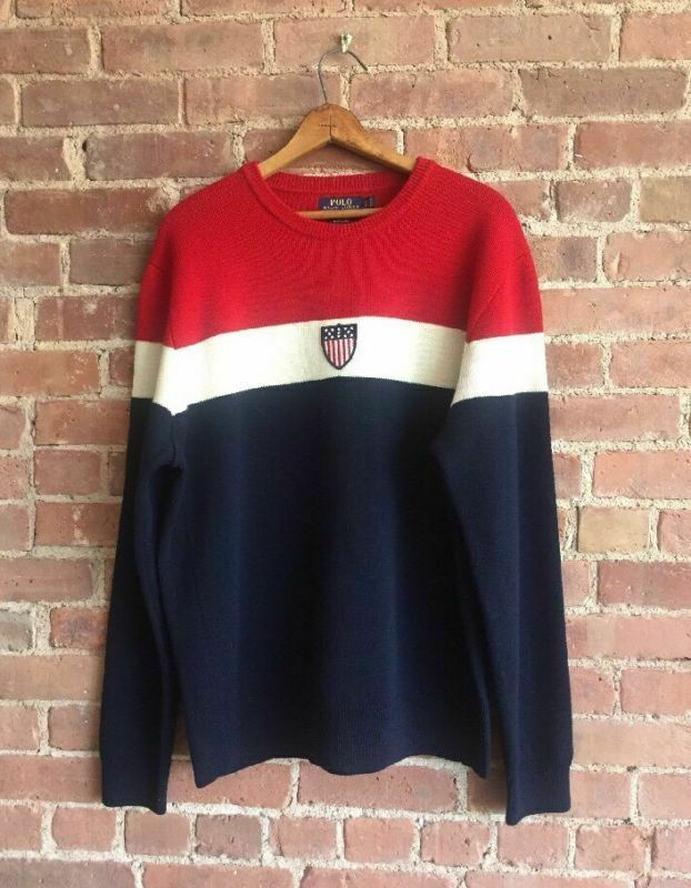 Polo Ralph Lauren Men's Sweater 2018 Team USA Olympic Ceremony Sz Large Rare