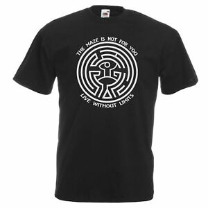 Mens-Westworld-Maze-T-Shirt-Black