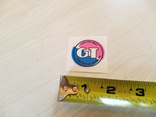 1987 GT Performer smaller seat post coin decal old school bmx pink on clear