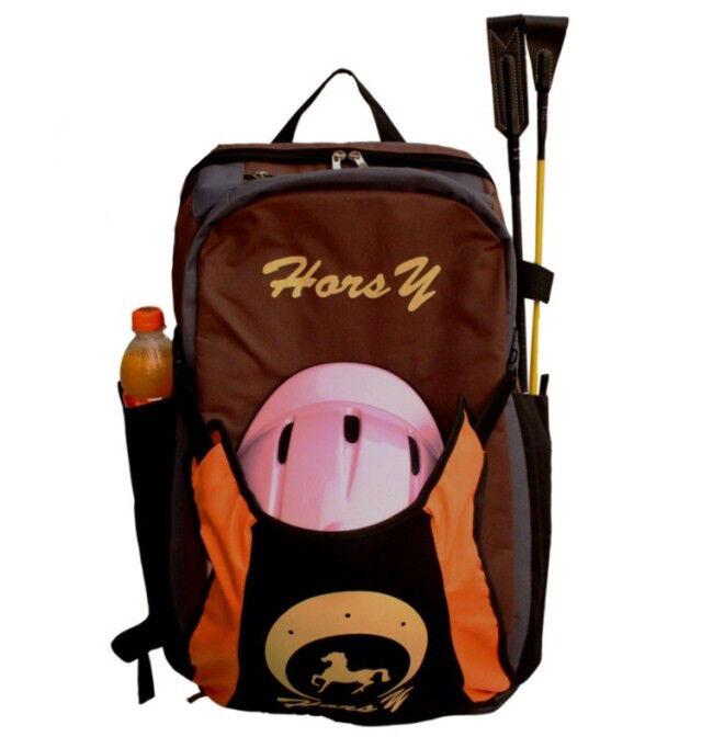 Horsy Profesional Caballo Mochila Botas De Montar Bolsa Mochila Caballo Ecuestre Equitación Casco 0cc444