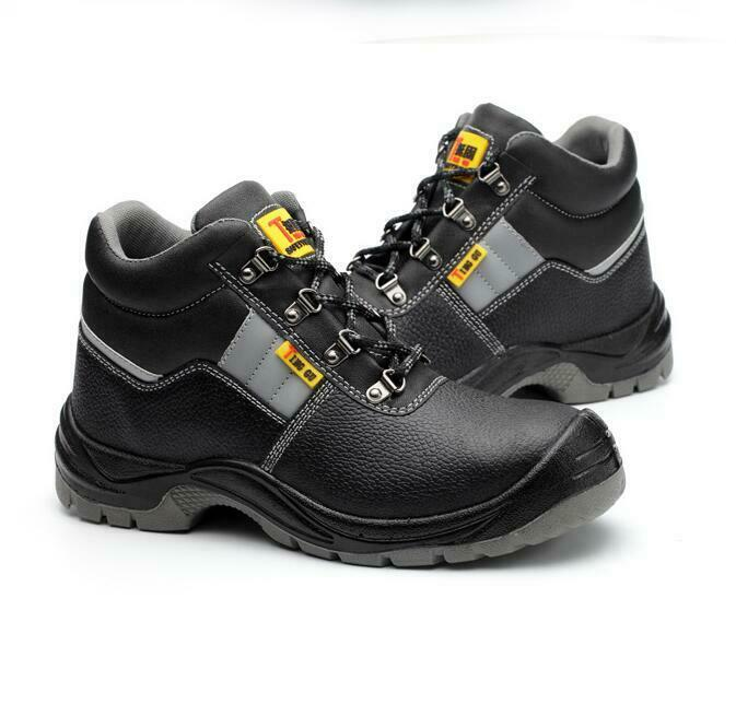 Mens Steel Toe Sole Work Boots Kitchen oil - resistant Breathable high top sheos