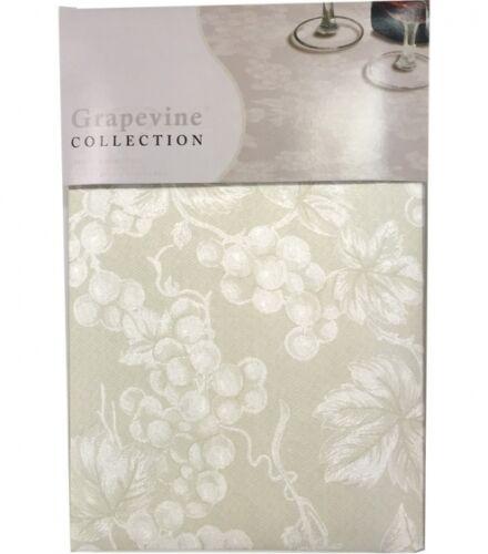 Ivory Grapevine Print Tablecloth NEW Lintex Grapevine Vinyl Tablecloth Ivory