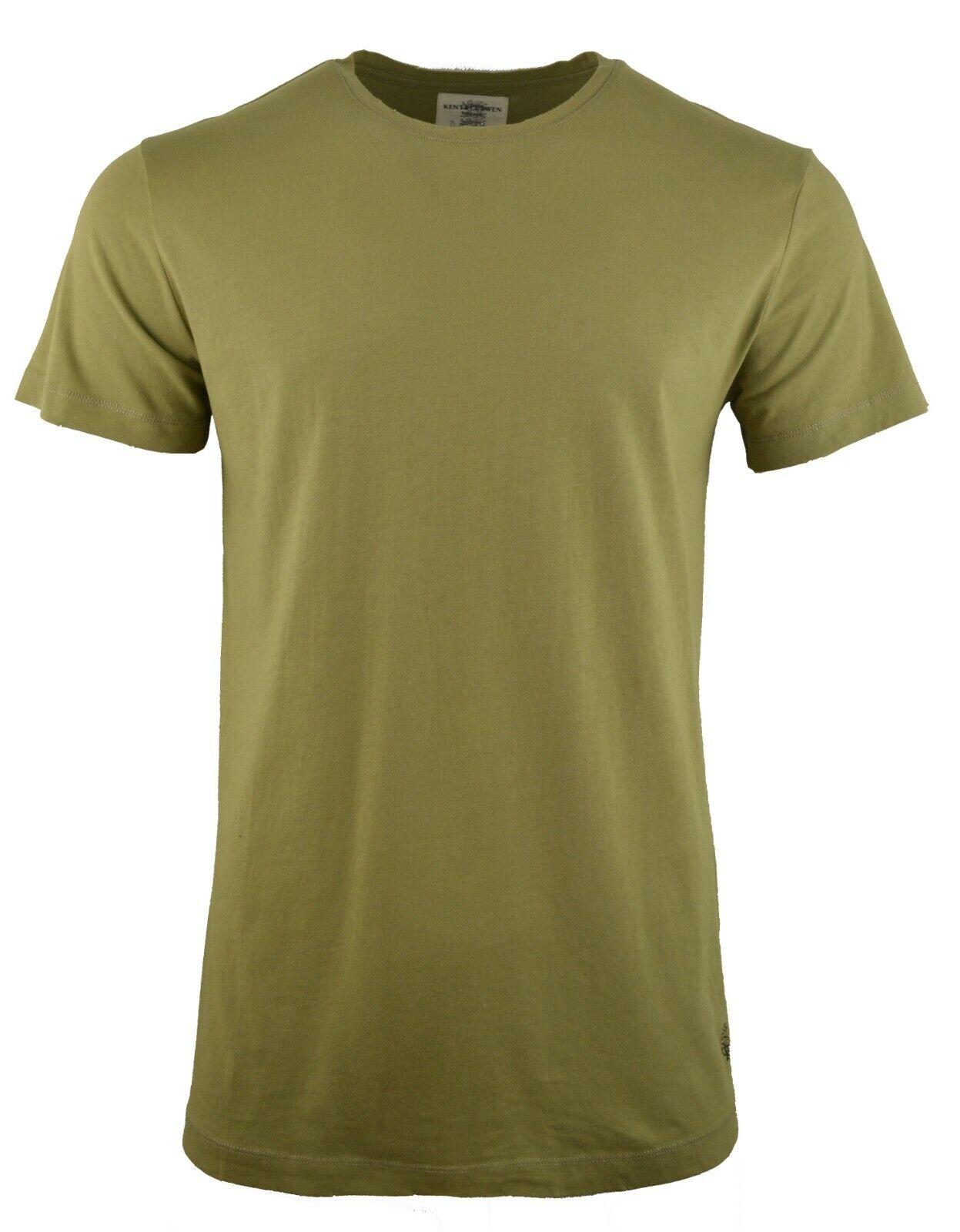 Kent & Curwen Lavaggio Vintage T-Shirt verde Oliva rosa Logo Girocollo David Beckham