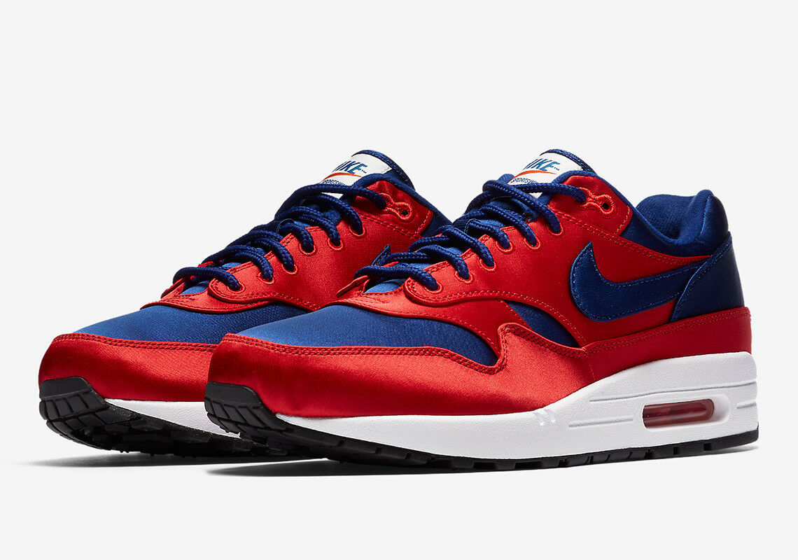 AO1021-600 Nike Men Air Max 1 Se University rouge bleu blanc 8.5 US