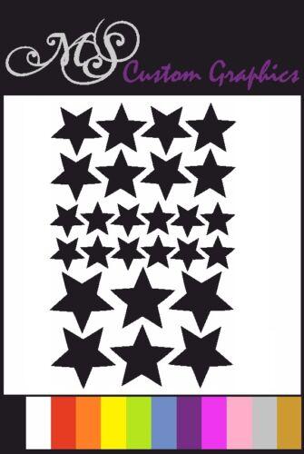 voiture stickers chambre salle de bains 26 x * étoiles * autocollant Pack A5 feuille choix de couleur