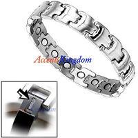 Accents Kingdom Men's Stylish Magnetic Power Titanium Golf Bracelet T7