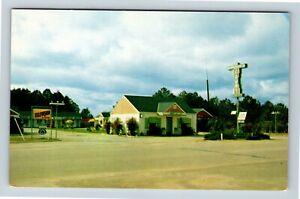 Barnesville-GA-Court-Motel-Television-Street-View-Chrome-Georgia-Postcard