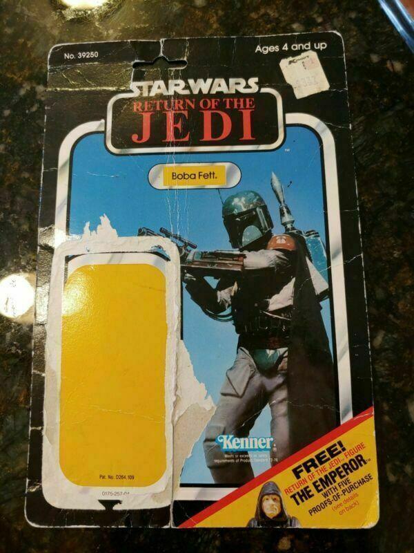 Boba Fett 65 Back ROTJ Vintage Cardback Star Wars - Card Only
