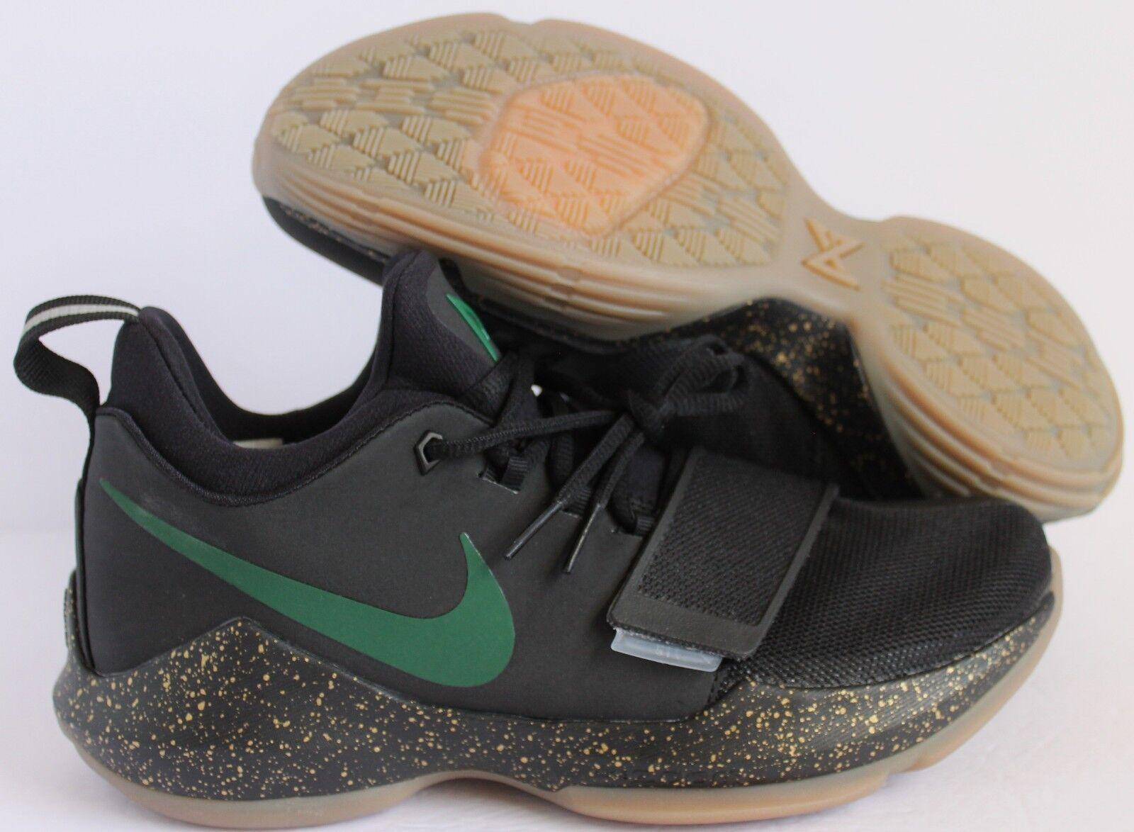 Nike PG 1 1 1 Paul George ID Black-Green-Gold-Gum SZ 7.5 ae04b6