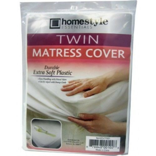Fitted Vinyl Mattress Protector Lightweight Plastic Bed Cover Four Size