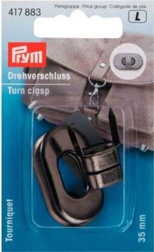 Prym Drehverschluss alt silber 20x35mm  Taschenverschluß Schnalle Metall 417883