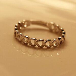 Ring-Stern-Herz-versilbert-groessenverstellbar-silber-Sterne-Herzen-Star-Valentin