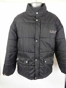 MENS-LILY-SPORT-COUTURE-BLACK-BUTTON-ZIP-UP-PUFFER-COAT-JACKET-L-LARGE