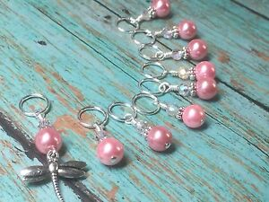 Snag-Free-Pink-Dragonfly-Knitting-Stitch-Marker-Set