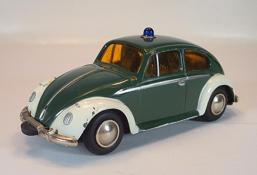 Schuco MICRO RACER 1039p VOLKSWAGEN VW MAGGIOLINO POLIZIA VINTAGE 60er anni  1386