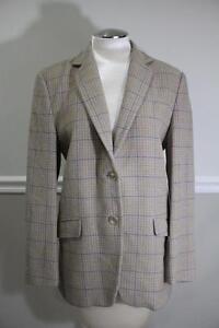 EMPORIO-ARMANI-men-039-s-beige-plaid-blazer-jacket-size-42-j200