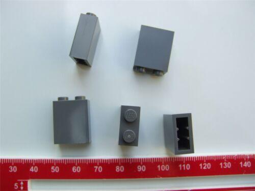 –4210978 5 x lego gris briques taille 1x2x2 pièces et morceaux