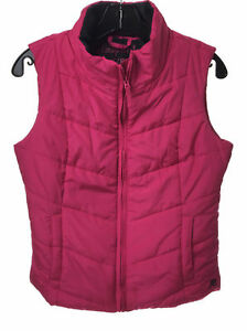 NEW-AEROPOSTALE-Aero-Womens-Pink-Lightweight-Solid-Puffy-Vest-Puffer-Medium-M