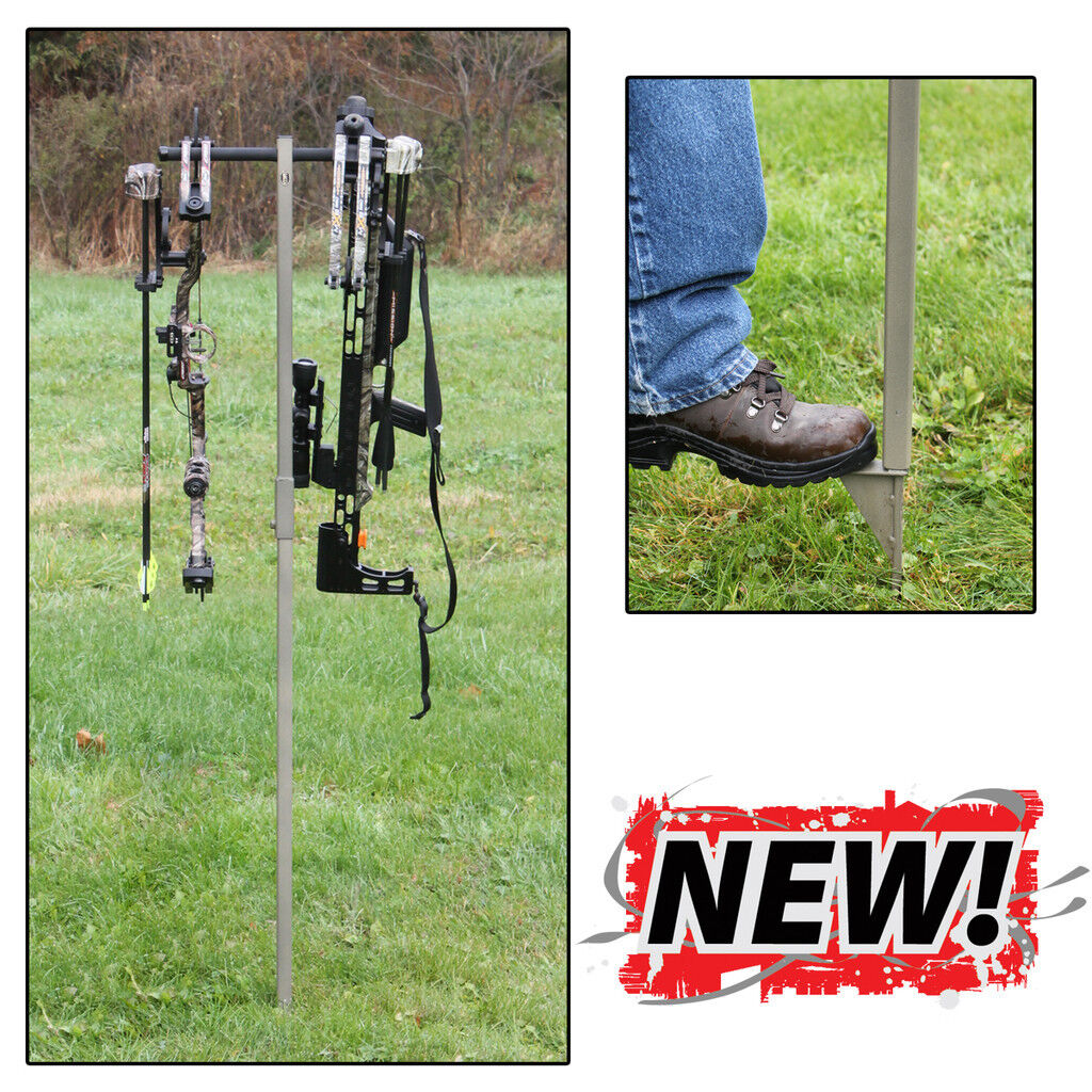 New Hold Up Displays Outdoor Twin Bow Holder Target Archery ModelHD61-O