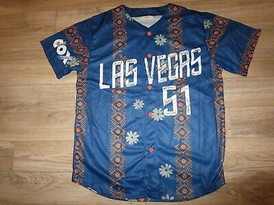 Baseball & Softball Las Vegas 51s Aaa Team Autogramm Minor League Baseballtrikot Xl Fanartikel