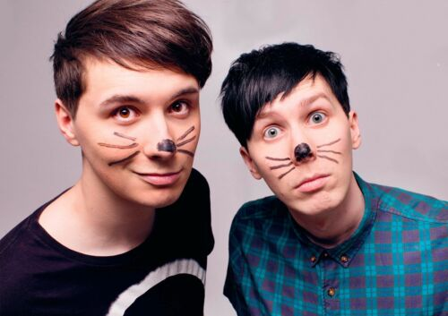 Dan and Phil Poster Cats Whiskers YouTube Quality Large FREE P+P CHOOSE UR SIZE